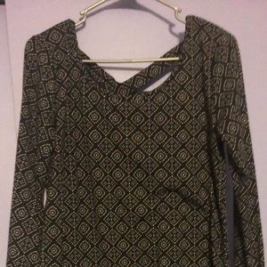 Maurices Patterned Bell Sleeve Top